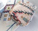 Marokkaanse kilim Boujaad poef 60x60x25cm_