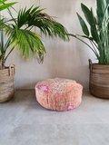 Ronde Marokkaanse kilim Boujaad poef 60 cm diameter_