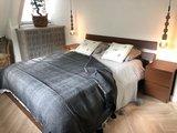 Marokkaans pompom deken 175x285 cm vintage black met zwarte pom poms_