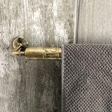 Brass handdoekhouder - Handgemaakt in Marokko - goudkleurig - 57cm_