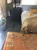 Marokkaans pompom deken 175x285 cm corn met zwart_