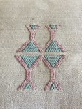 Sabra kussen - cactus zijde Berber kussen_