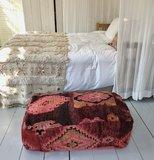 XL Marokkaanse kelim boujaad poef 60x90x25cm_