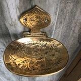 Brass zeepbakje voor aan de wand_