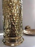 Goudkleurige hammered brass wc-borstel _