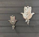 Goud of zilver kleurige Marokkaanse handdoek haakjes_