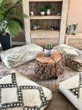 XL Marokkaanse Beni Ouarain poef berber 55x90x25cm_