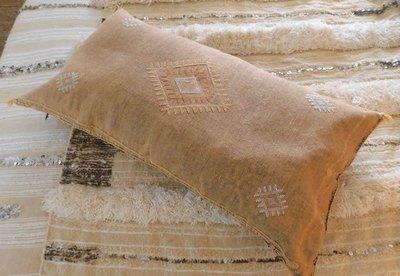 XL Sabra cactus zijde kussen 50x100cm