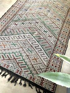Marokaans Kilim Hanbel loper 155x322cm