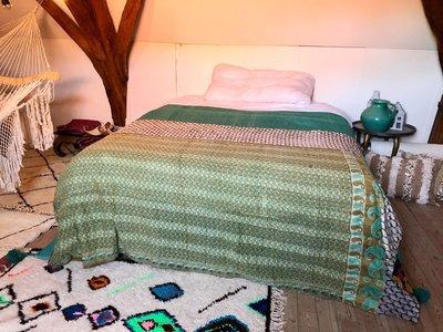 Kantha quilt uit india - 2 zijdig