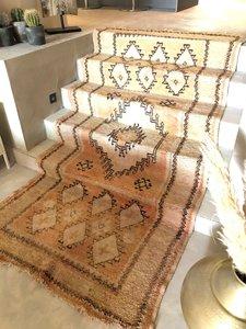 Vintage Marokkaans boujaad kleed 145x325cm