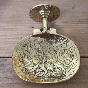 Brass zeepbakje goud