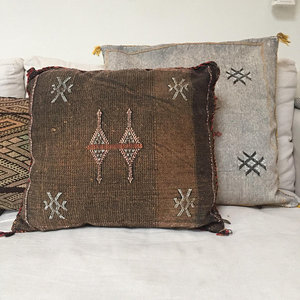 VERKOCHT - Sabra kussen - cactus zijde Berber kussen