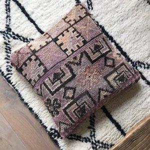 Berber Boujaad kussen met kelim achterkant 50x50cm