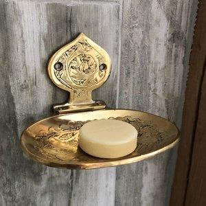 Goudkleurig handgemaakt Marokkaans zeepbakje