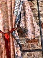 Crepe Silk kimono Tye Dye